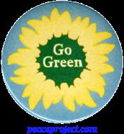 Go Green - Button