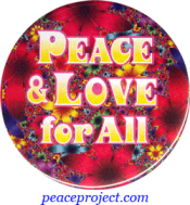 Peace And Love For All - Button