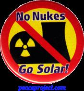 No Nukes Go Solar - Button
