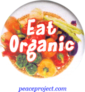 Eat Organic - Button