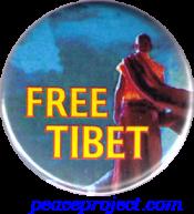 Free Tibet - Button
