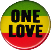 "One Love - Button / Pinback (1.25"")"