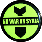 No War On Syria - Button
