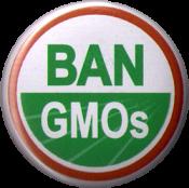 """Ban GMOs - Button / Pinback (1.25"""")"""