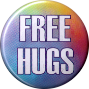 Free Hugs - Button