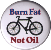 Burn Fat Not Oil - Button