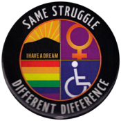 "Same Struggle, Different Difference - Button (2.25"")"