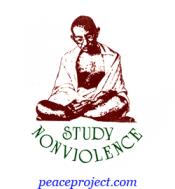 B125 - Study Nonviolence - Button