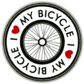 "I Love My Bicycle - Button (1.5"")"