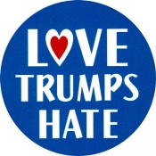 "Love Trumps Hate - Button (1.5"")"
