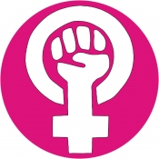 "Feminist Fist - Button / Pinback (1.5"")"