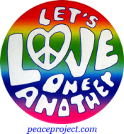 B134 - Let's Love One Another - Button