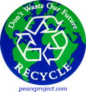 B257 - Don't Waste Our Future, Recycle - Button