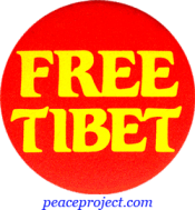 B300 - Free Tibet - Button