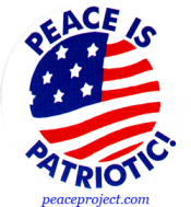 B336 - Peace Is Patriotic - Button