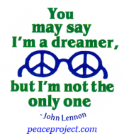 B384 - You May Say I'm A Dreamer But I'm Not The Only One - John Lennon - Button