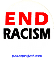 B391 - End Racism - Button