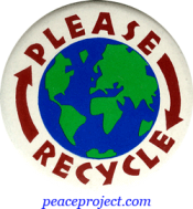 B434 - Please Recycle - Button