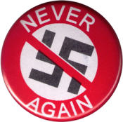 "Never Again - Button (1.25"")"