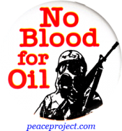 B600 - No Blood For Oil - Button
