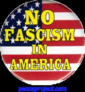 B625 - No Fascism In America - Button