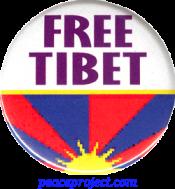 B736 - Free Tibet - Button