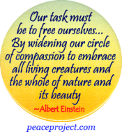 Our Task Must Be To Free Ourselves - Albert Einstein - Button
