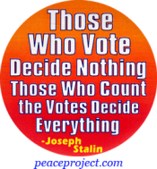 Those Who Vote Decide Nothing - Joseph Stalin - Button