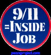 9/11 = Inside Job - Button
