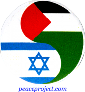 Israeli And Palestinian Yin-Yang - Button