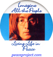 Imagine All The People Living Life In Peace - John Lennon - Button