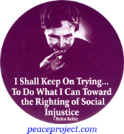 I Shall Keep On Trying... - Helen Keller - Button