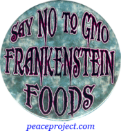 Say No To GMO Frankenstein Foods - Button