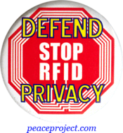 B920 - Defend Privacy - Stop RFID - Button