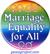 "Marriage Equality For All - Button / Pinback (1.5"")"