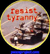 Resist Tyranny - Button