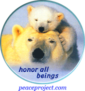 B967 - Honor All Beings - Button