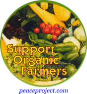 Support Organic Farmers - Button