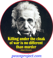 Killing Under The Cloak Of... - Albert Einstein - Button