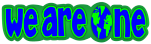 """We are one world - Small Bumper Sticker / Decal (5.5"""" X 1.5"""")"""