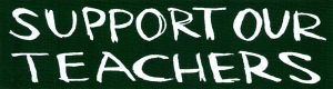 "Support Our Teachers - Small Bumper Sticker / Decal (5.5"" X 1.5"")"
