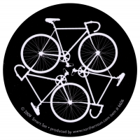 "Bike Cycle - Small Bumper Sticker / Decal (3"" Circular)"