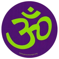 "Om Symbol - Small Bumper Sticker / Decal (2.5"" circular)"