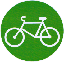 "Bicycle - Small Bumper Sticker / Decal (3"" Circular)"