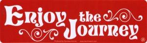 Enjoy the Journey - Small Bumper Sticker