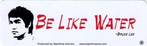 Be Like Water - Bruce Lee - Small Bumper Sticker
