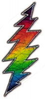 "Grateful Dead Lightening Bolt - Small Bumper Sticker / Decal (1.25"" X 3"")"