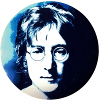 "John Lennon Face - Small Bumper Sticker / Decal (3"" Circular)"