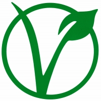 "Vegetarian Symbol - Small Bumper Sticker / Decal (3.5"" X 3.75"")"