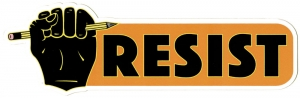 "Resist - Small Bumper Sticker / Decal (6"" X 2"")"